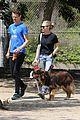 amanda seyfried takes finn for a walk with a friend 21