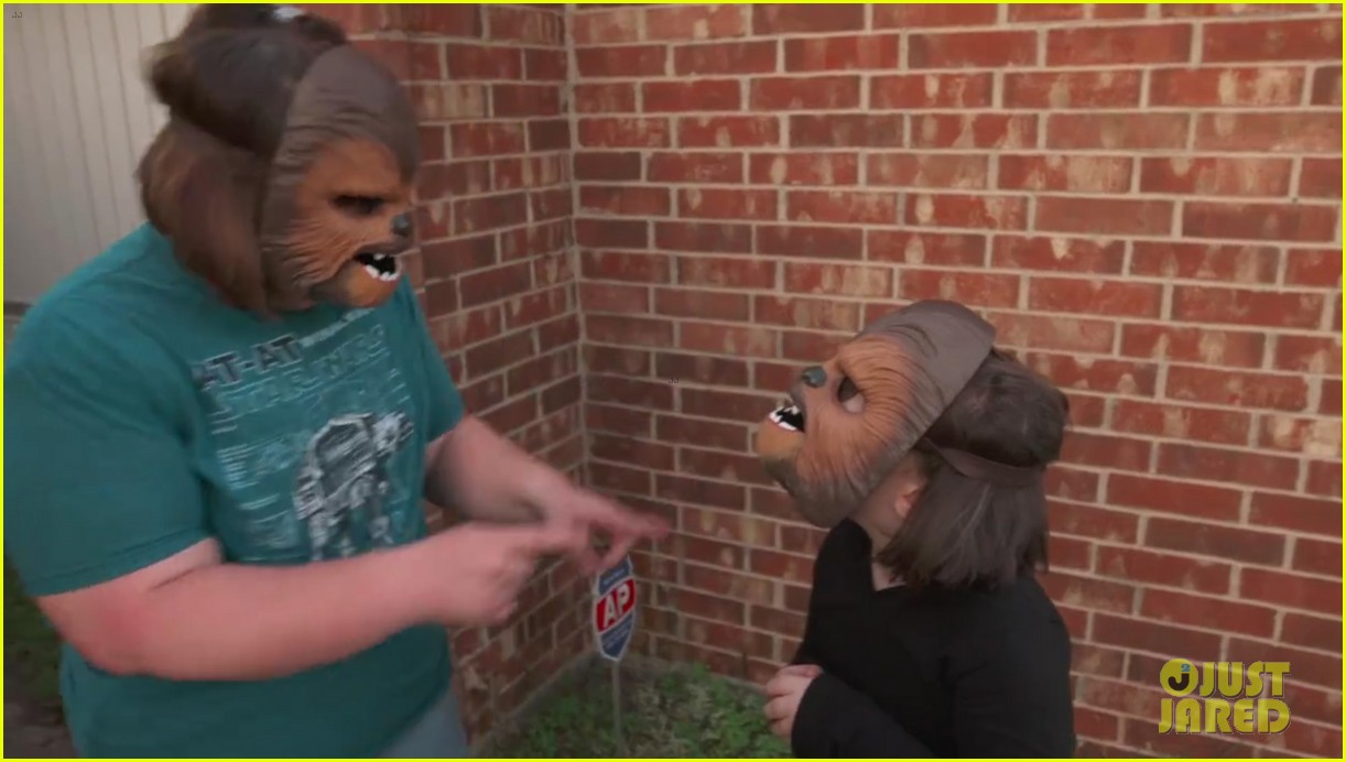 chewbacca lady her kids get more masks from kohls 093662268