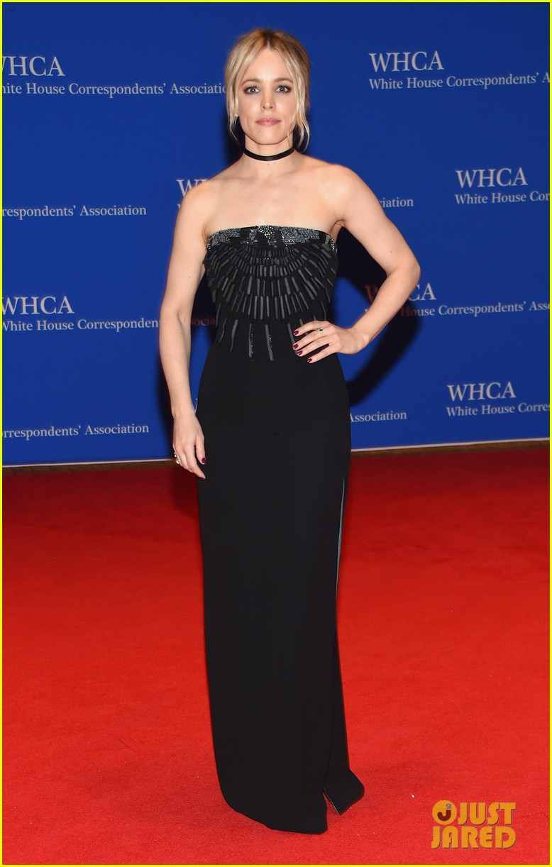 rachel mcadams steps out for white house correspondents' dinner