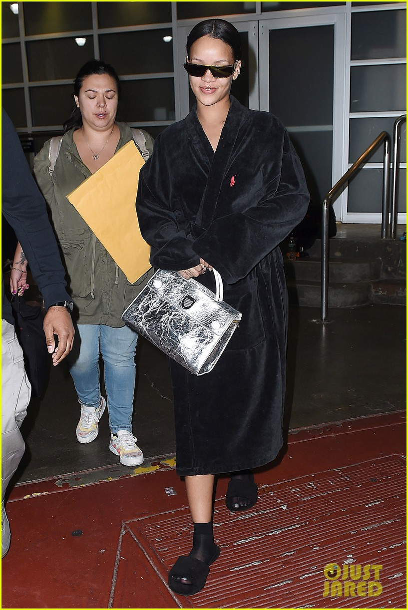 rihanna steps out in robe flip flops after a photo shoot 103667430