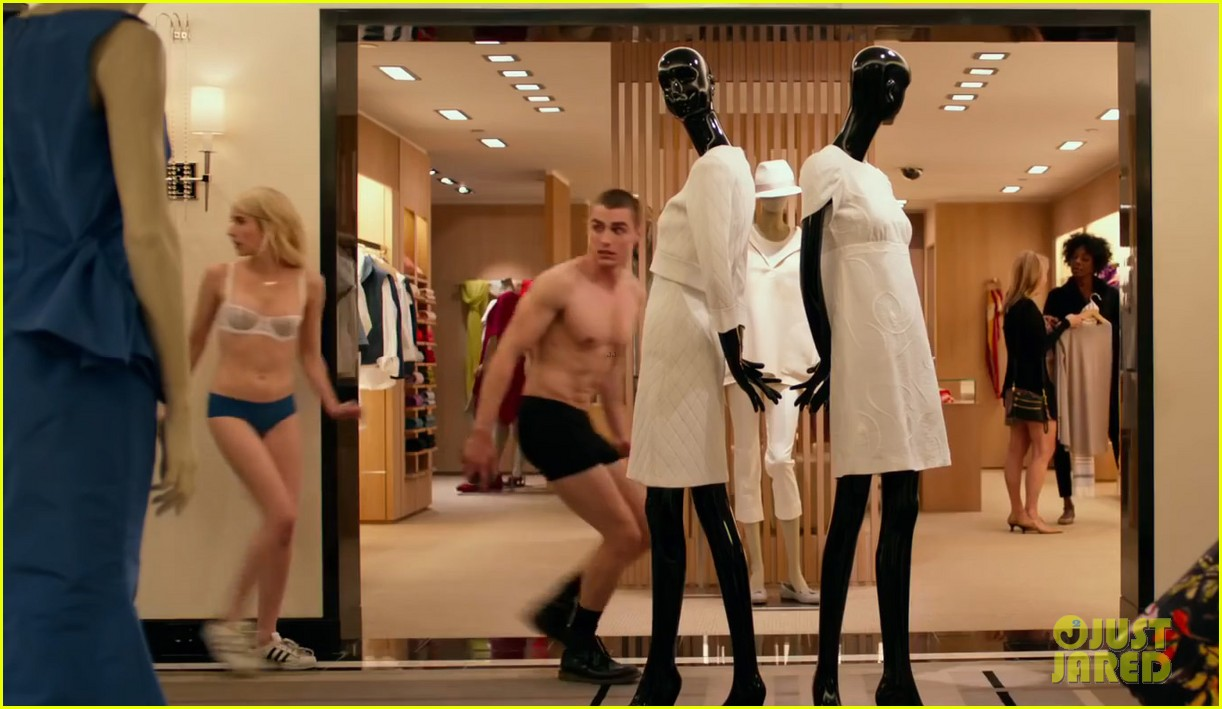 Full Sized Photo Of Emma Roberts Dave Franco Strip Down In Nerve Trailer 05 Photo 3654674 Just Jared