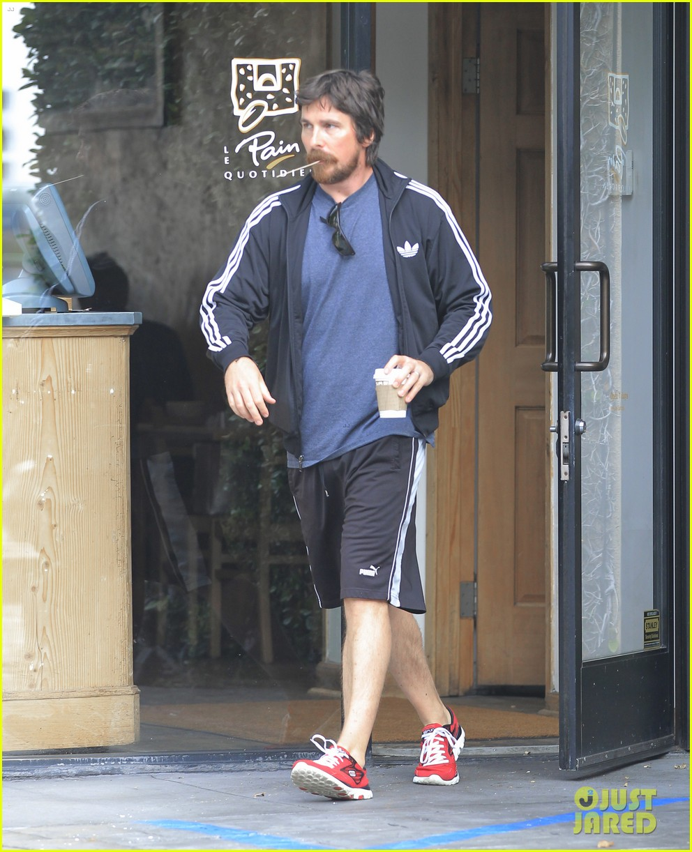 christian bale coffee mustache los angeles 073673955