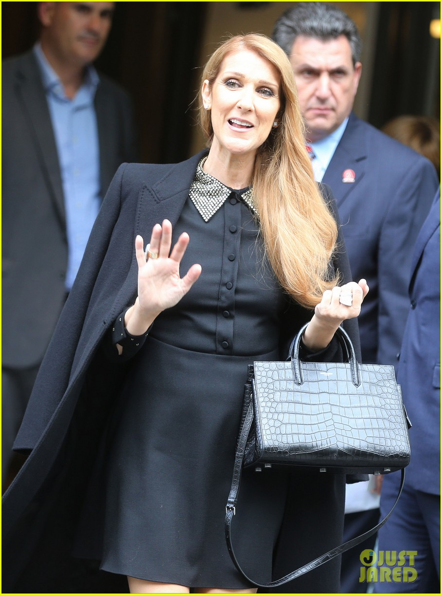 celine dion leaves hotel paris family 223683209