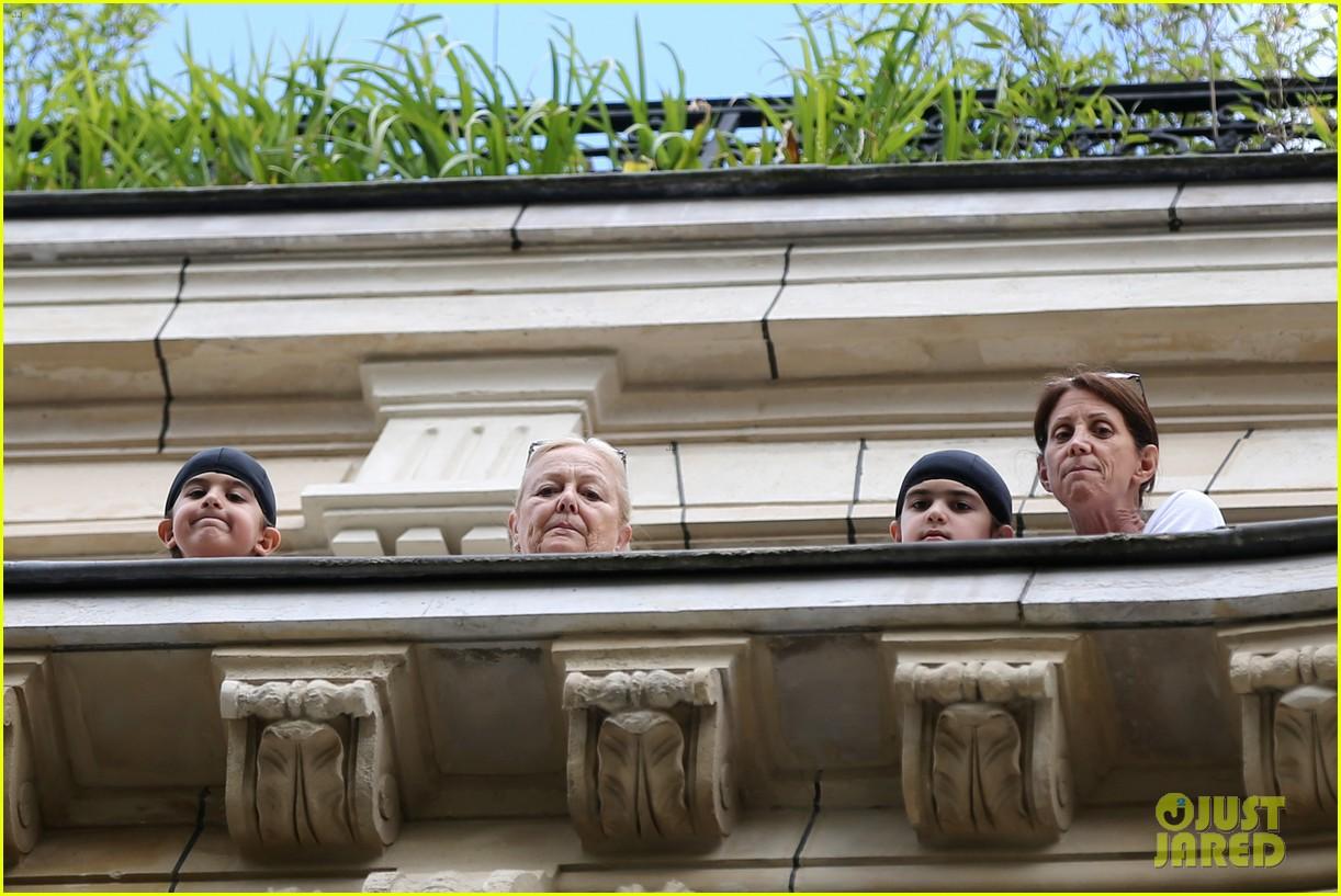 celine dion leaves hotel paris family 333683220