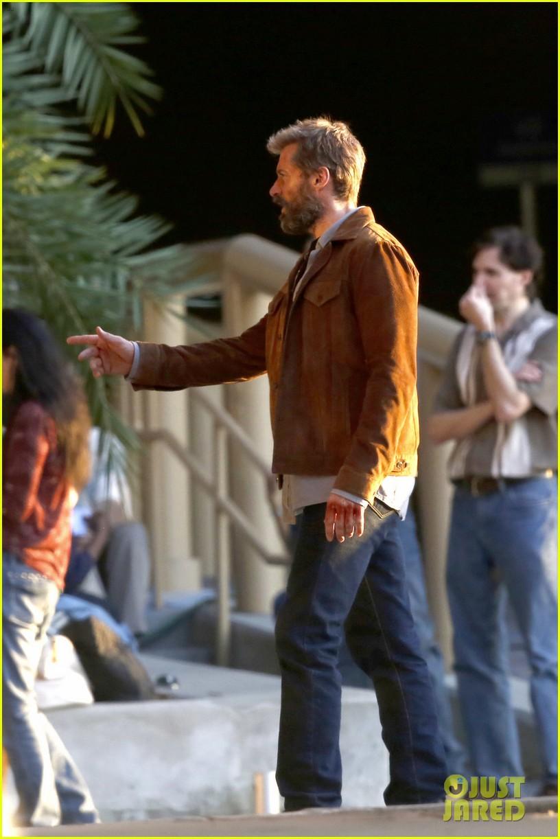 hugh jackman films  u0026 39 wolverine 3 u0026 39  scenes with patrick