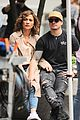 jennifer lopez gets shades of blue set visit from casper smart 03