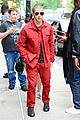 nick jonas red suit aol build appearance 07
