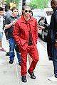 nick jonas red suit aol build appearance 14
