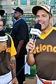 nina agdal jamie foxx hit the field at all star legends 17