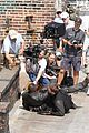 idris elba unbuttons his shirt on the dark tower set 05