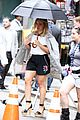 hilary duff sutton foster look chic while filming younger 19