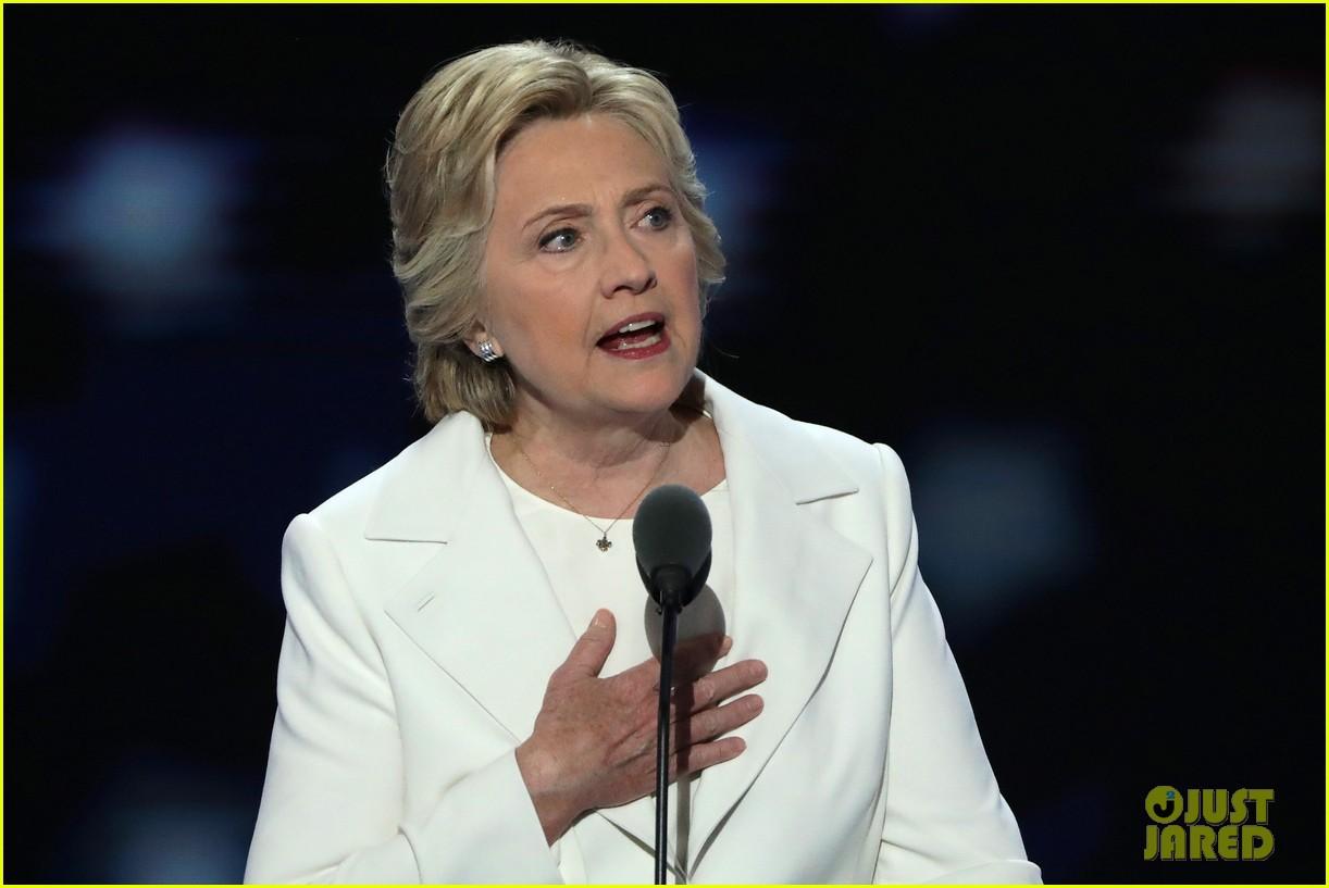 clintons dnc speech Sandwiched between dnc chair tom perez and congresswoman maxine  waters (d-california), hillary clinton's speech won top billing.