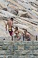 pregnant blake lively baby bump bikini shirtless ryan reynolds 07