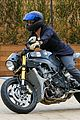 orlando bloom takes his motorcyle to malibu 14