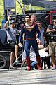 tyler hoechlin saves day on supergirl as superman filming 02