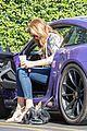 caitlyn jenner purple porsche woodland hills 10