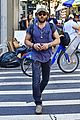 joel edgerton sports stripes while out and about in soho 02