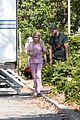 emma roberts pink scrubs queens coffee pickup 06