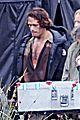 sam heughan is all bloody on outlander season 2 set 06