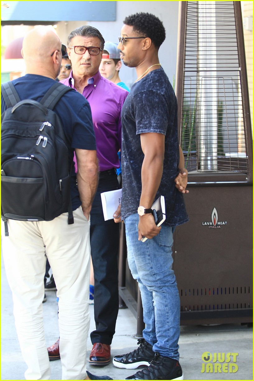 Irregularidades ventilador Depender de  Michael B. Jordan & Sylvester Stallone Grab Lunch Together in Beverly  Hills: Photo 3729085 | Michael B Jordan, Sylvester Stallone Pictures | Just  Jared