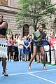 serena williams flashes her bra at pre us open event 16