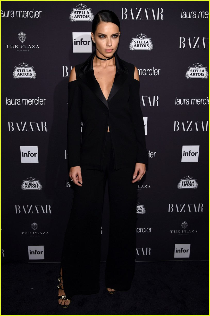 Harper s bazaar event looks more like a lingerie party page 12 - Adriana Lima Izabel Goulart Heidi Klum Get Chic At Harper S Bazaar Icons Party Photo 3754792 2016 New York Fashion Week September Adriana Lima