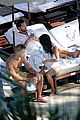 kourtney kardashian and scott disick hang out poolside together 02