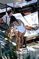 kourtney kardashian and scott disick hang out poolside together 09