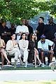 kim kardashian front row kanye yeezy 09