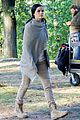 jaimie alexander crawls around the woods while filming for blindspot 25