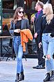 dakota johnson orange jacket soho walk 06