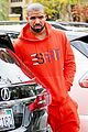 drake wears orange sweats for lunch 15