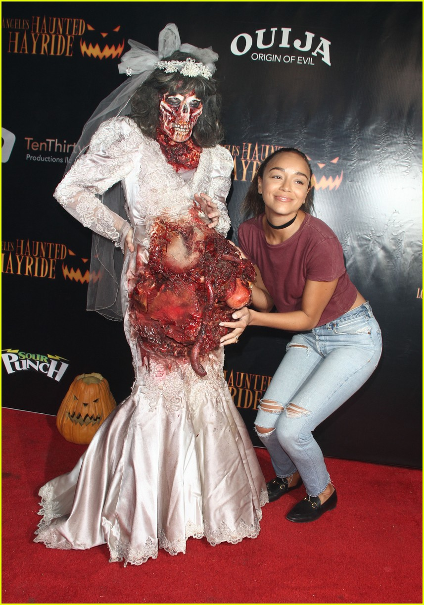 ashley tisdale jamie chung meet a scary zombie bride - Ashley Tisdale Halloween