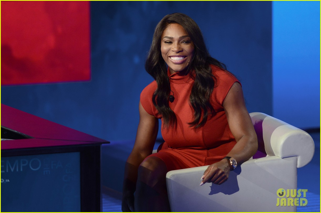 Serena williams italy talk show appearance 14