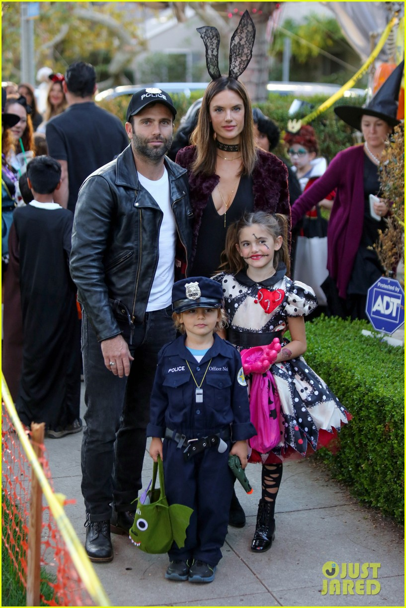 alessandra ambrosio wears bunny ears while trick or treating 013799647