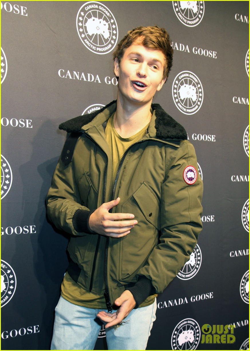 ansel elgort canadian goose launch nyc 09