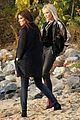 cate blanchett rocks leather pants while filming oceans eight with sandra bullock 09