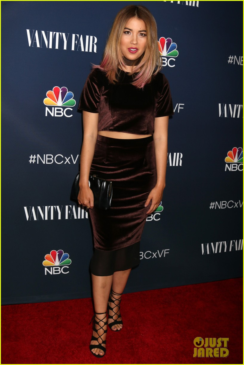 Full Sized Photo Of America Ferrera Debuts New Blonde Hair At Nbc Vanity Fairs Fall 11 Photo 3800916 Just Jared