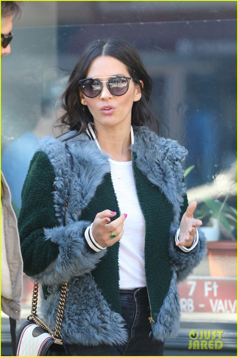 olivia munn runs into designer michael kors while voting in nyc 053804790