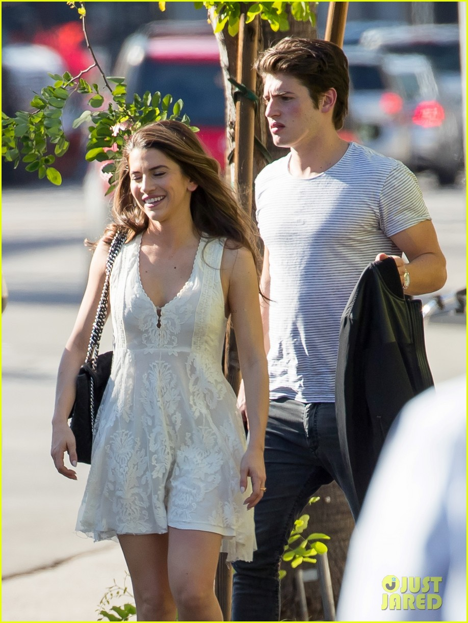 gregg sulkin steps out with mstery brunette 043805376