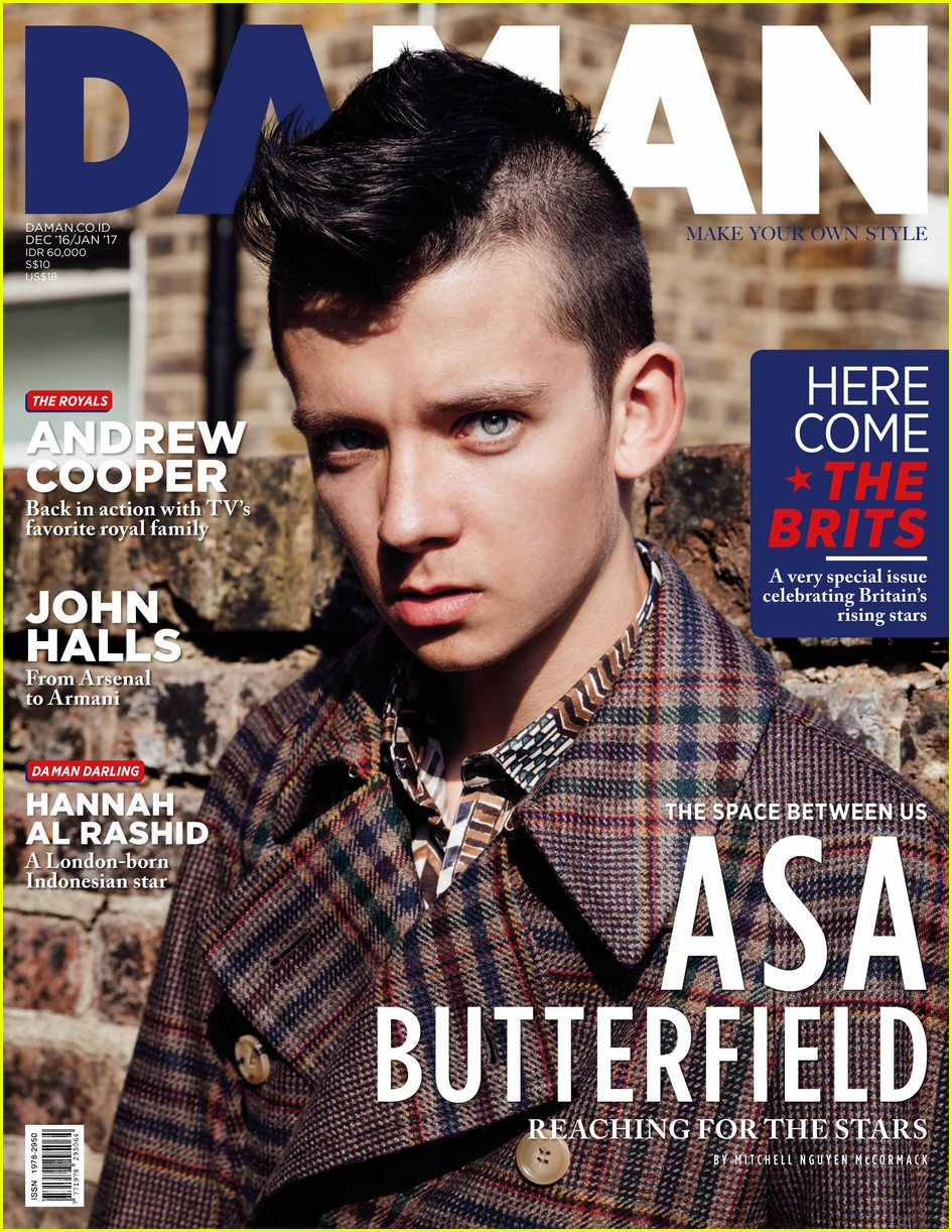 asa butterfield covers da man 023821842