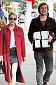 emma roberts and evan peters step out to mail their christmas gifts 12