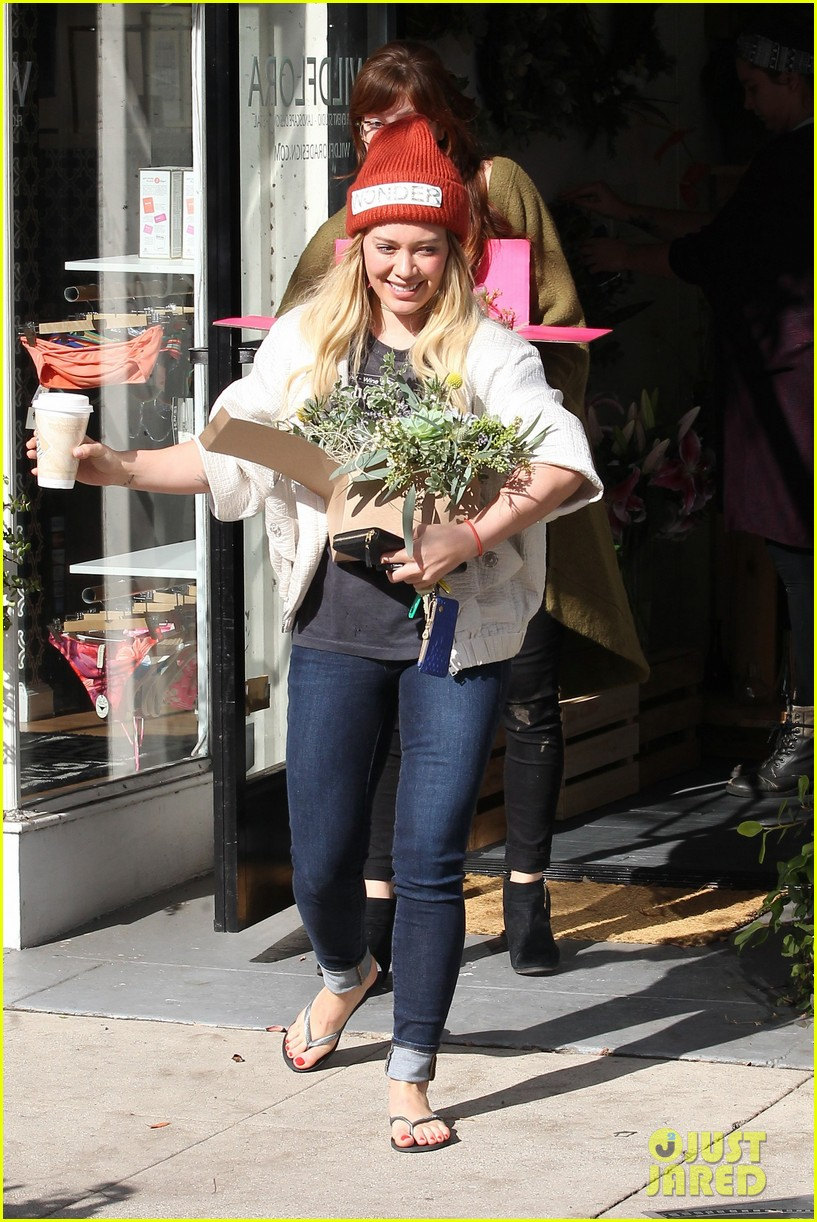 hilary duff lets fans know shes nursing herself back to health 023842720