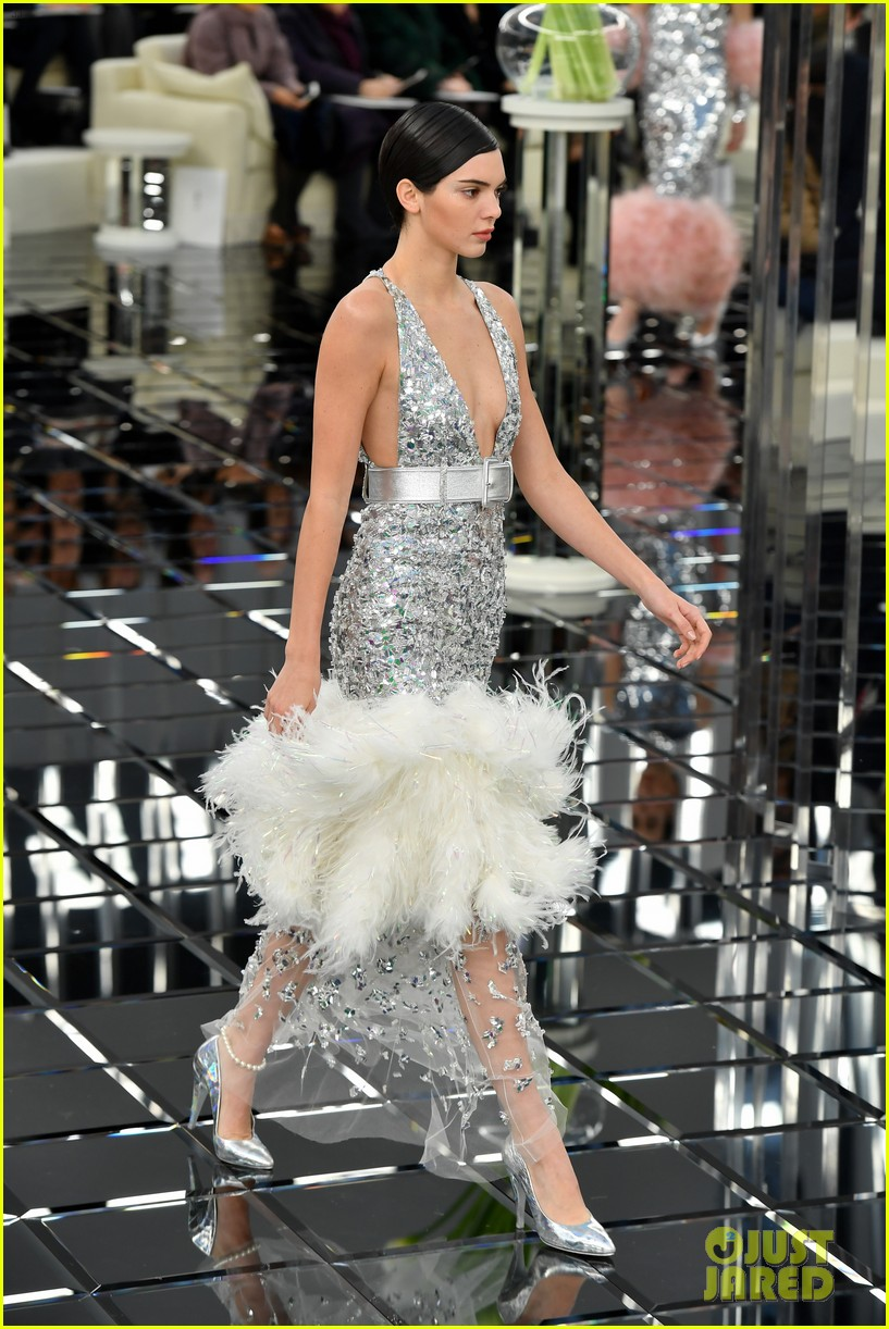 5dba779fca Full Sized Photo of kendall jenner bella hadid chanel spring 2017 ...