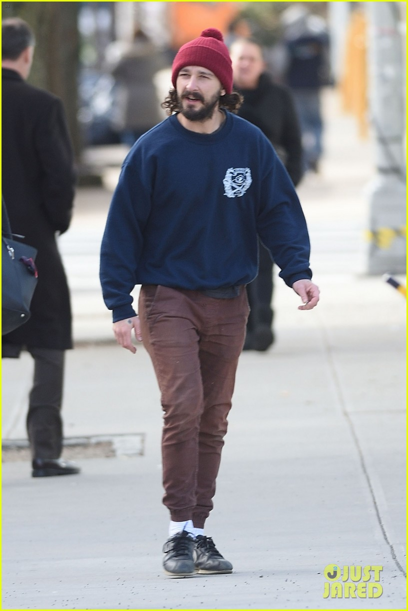 Full Sized Photo of shia labeouf rallies the crowd at he ...