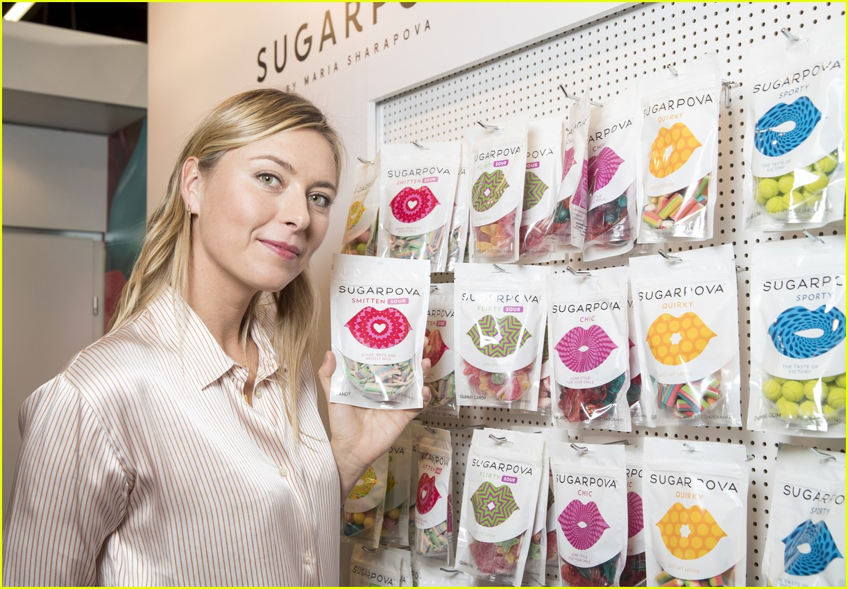maria sharapova introduces yummy new sugarpova chocolates photo 3850674 maria sharapova pictures just jared