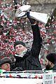 tom brady son benjamin lombardi trophy super bowl parade 06