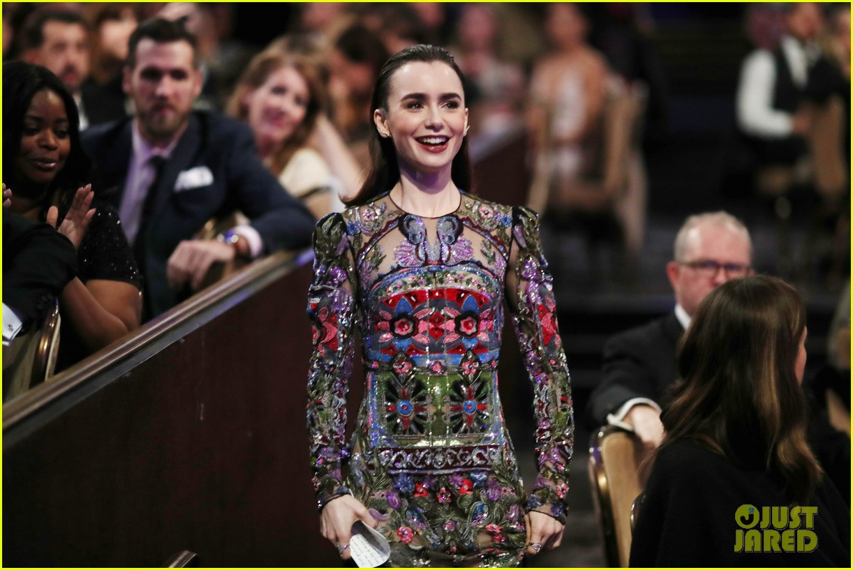 lily collins matt bomer costume designers guild awards 18
