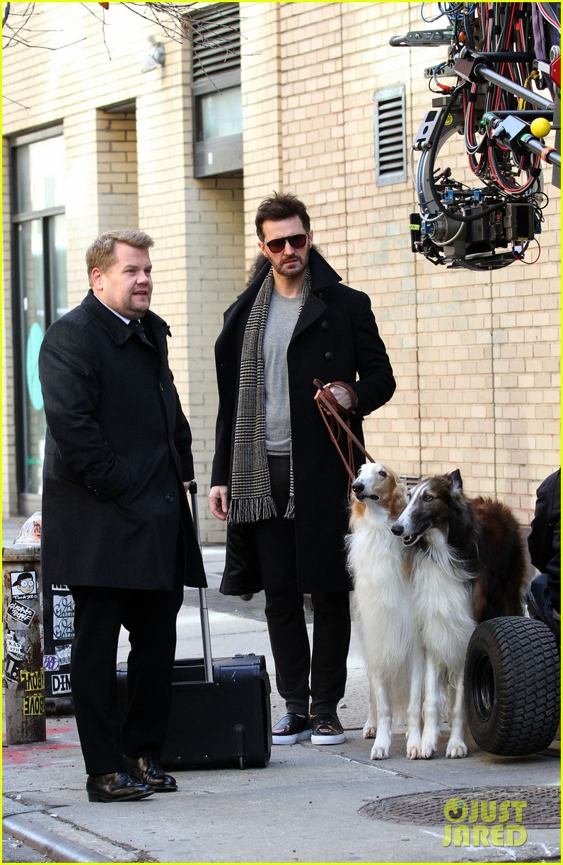 james corden films oceans eight cameo nyc 033851860
