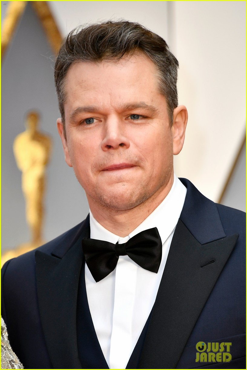 matt damon lucia oscar red carpet 013866704